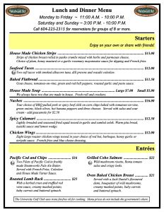 Westward Ho lunch and dinner menu Jan 2016(1)(1)(1)